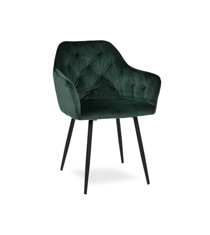 LIZA ZIELONE krzesło tapicerowane velvet