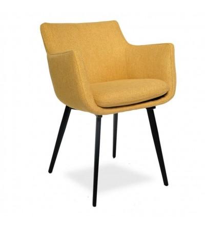MARTA MUSZTARDOWE krzesło tapicerowane