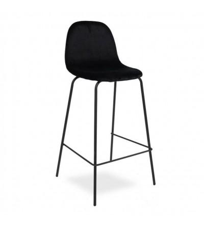 MIO CZARNE velvet krzesło barowe hoker