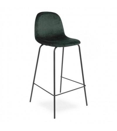 MIO ZIELONE velvet krzesło barowe hoker