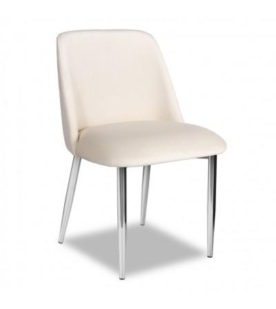 VINCENT BEŻOWY krzesło tapicerowane velvet