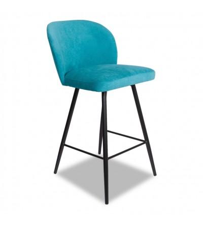 RIO BŁĘKITNE velvet krzesło barowe hoker