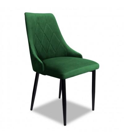CAREN ZIELONE krzesło tapicerowane velvet