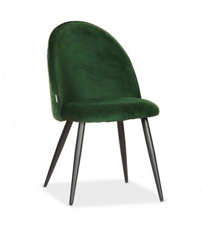SOUL MAX ZIELONE krzesło tapicerowane velvet