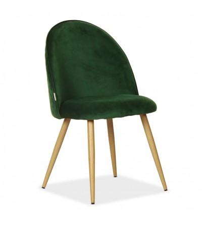 SOUL MAX ZIELONY krzesło tapicerowane velvet