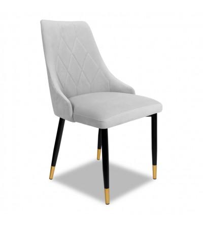 CAREN SZARE krzesło tapicerowane velvet