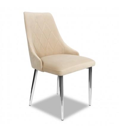 CAREN BEŻOWE krzesło tapicerowane velvet