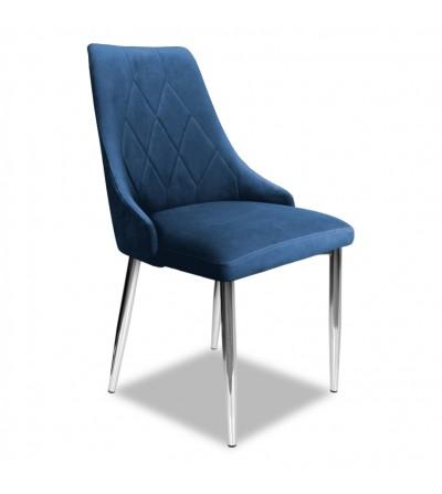 CAREN GRANATOWE krzesło tapicerowane velvet