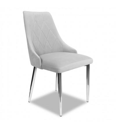 CAREN JASNO SZARE krzesło tapicerowane velvet