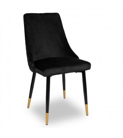 OSCAR CZARNE krzesło tapicerowane velvet