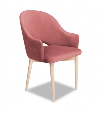 GLORIA RÓŻOWE krzesło tapicerowane velvet