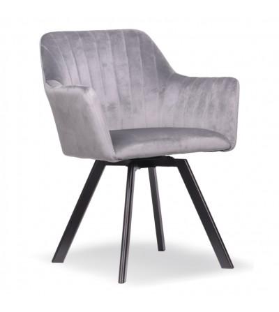 LAURA 2 JASNO SZARE krzesło tapicerowane obrotowe velvet