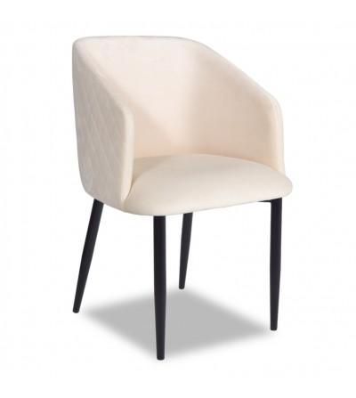 VINCENT 2 BEŻOWY krzesło tapicerowane velvet