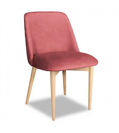 VINCENT RÓŻOWY krzesło tapicerowane velvet