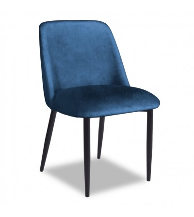 VINCENT GRANATOWE krzesło tapicerowane velvet
