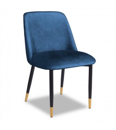 VINCENT GRANATOWY krzesło tapicerowane velvet