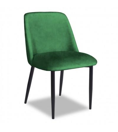 VINCENT ZIELONE krzesło tapicerowane velvet