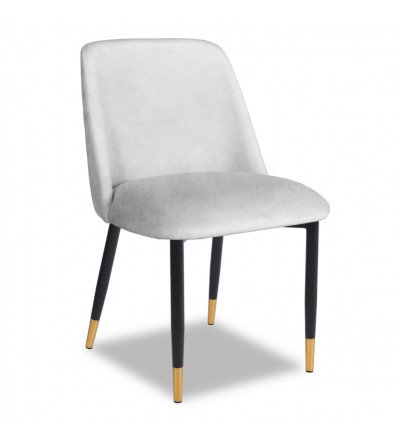 VINCENT JASNY SZARY krzesło tapicerowane velvet
