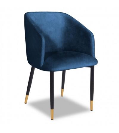 VINCENT 2 GRANATOWE krzesło tapicerowane velvet