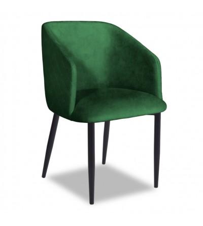 VINCENT 2 ZIELONY krzesło tapicerowane velvet