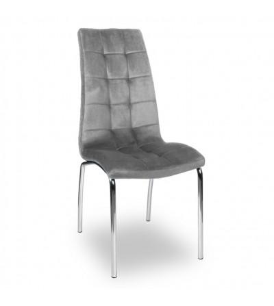 ESTER SZARE tapicerowane krzesło velvet