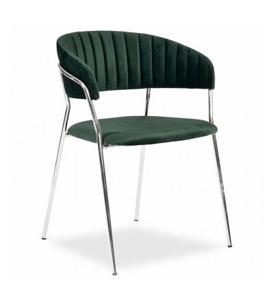 FEBA ZIELONE krzesło tapicerowane velvet