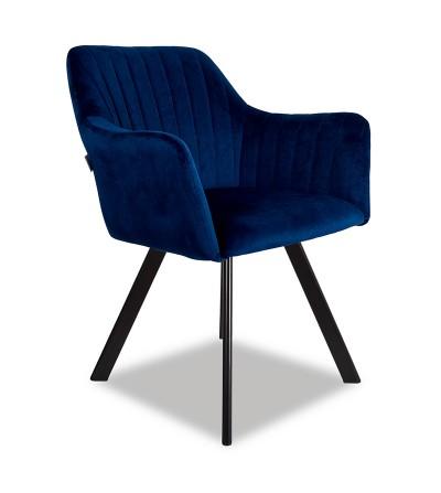 LAURA 2 GRANATOWE krzesło tapicerowane obrotowe velvet