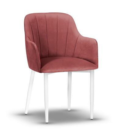 IVETT RÓŻOWE krzesło tapicerowane velvet