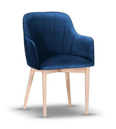IVETT GRANATOWE krzesło tapicerowane velvet