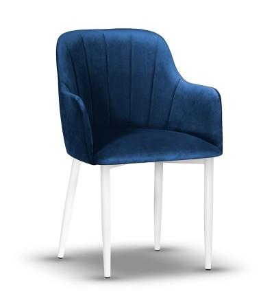 IVETT GRANATOWY krzesło tapicerowane velvet
