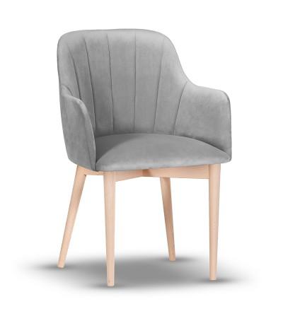 IVETT SZARY krzesło tapicerowane velvet