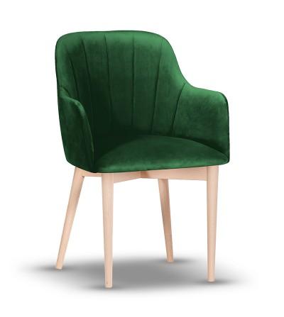 IVETT ZIELONE krzesło tapicerowane velvet