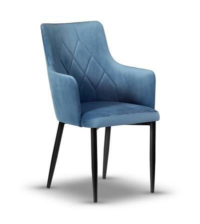 CAREN II NIEBIESKI krzesło tapicerowane velvet