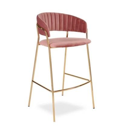 FEBA 2 różowy ciemny krzesło barowe