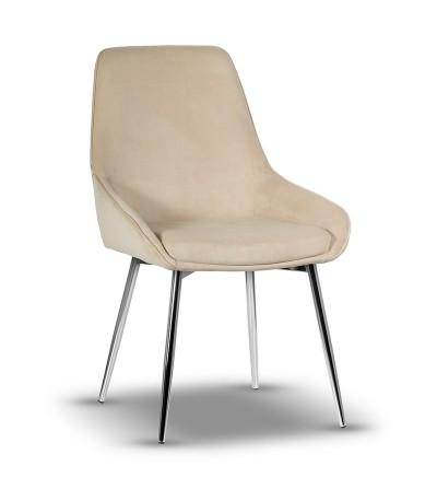 RINO BEŻOWE krzesło tapicerowane velvet