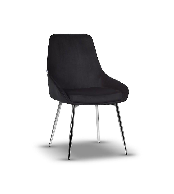 RINO CZARNE krzesło tapicerowane velvet
