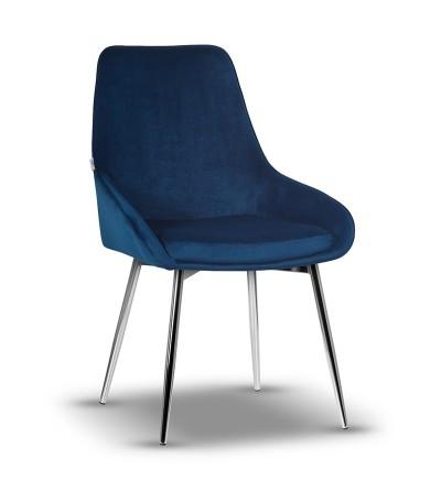 RINO GRANATOWE krzesło tapicerowane velvet