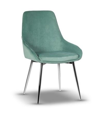 RINO MIĘTOWE krzesło tapicerowane velvet