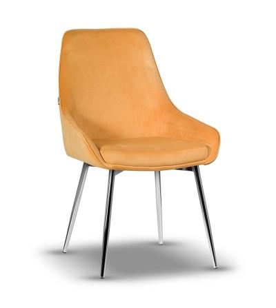 RINO MUSZTARDOWE krzesło tapicerowane velvet