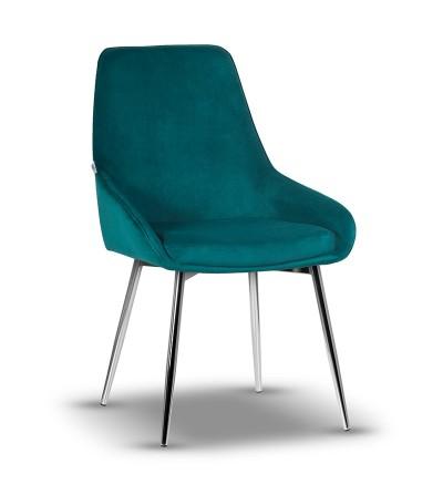 RINO TURKUSOWE krzesło tapicerowane velvet
