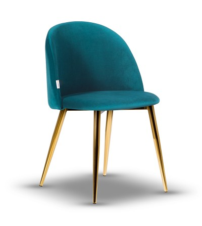 SOUL TURKUSOWE krzesło tapicerowane velvet