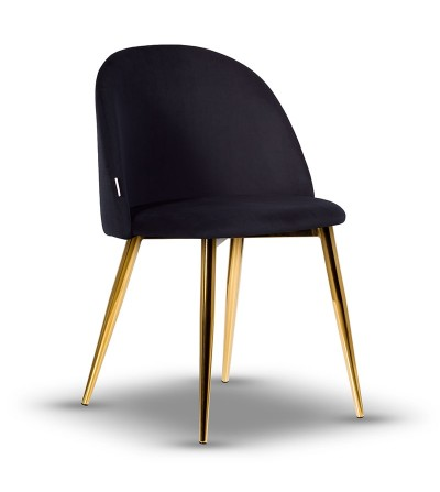 SOUL CZARNE krzesło tapicerowane velvet