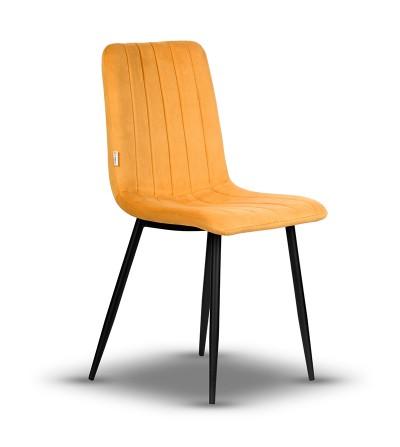 EVAN MUSZTARDOWY krzesło tapicerowane velvet