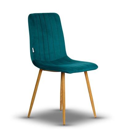 EVAN TURKUSOWE krzesło tapicerowane velvet
