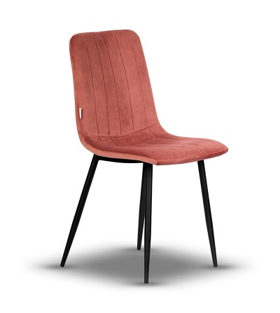 EVAN CIEMNY RÓŻOWY krzesło tapicerowane velvet