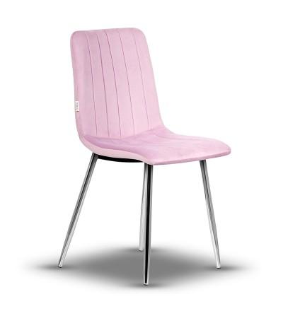 EVAN RÓŻOWE krzesło tapicerowane velvet