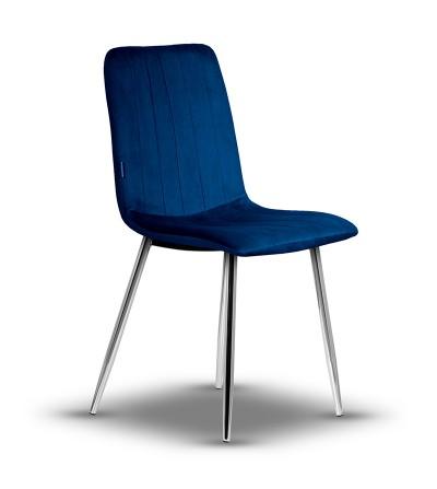 copy of EVAN GRANATOWE krzesło tapicerowane velvet