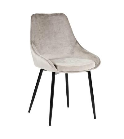 TORINO JASNO SZARE krzesło tapicerowane velvet