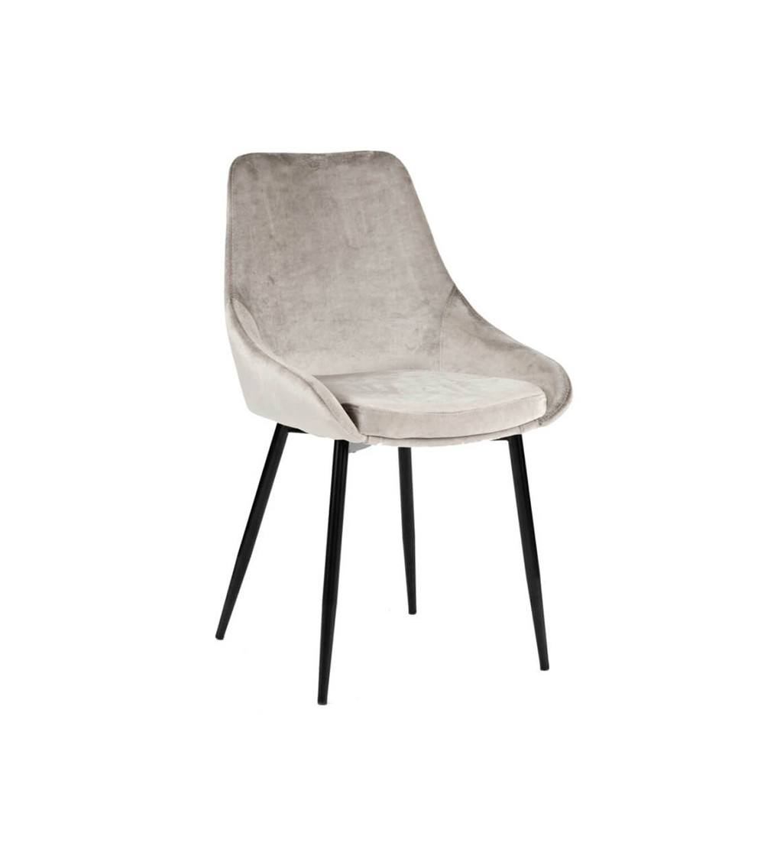 RINO JASNO SZARE krzesło tapicerowane velvet