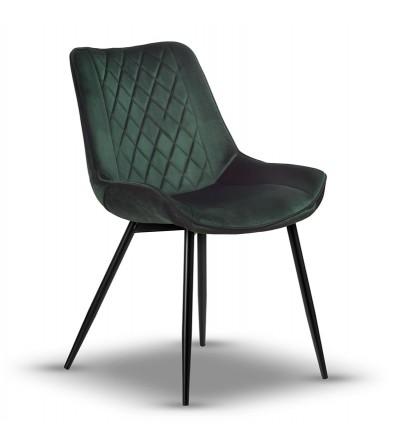 ADELLA ZIELONE krzesło tapicerowane velvet